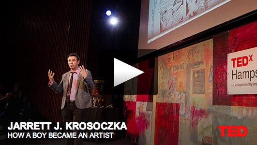 """Inspiring Talk by Jarrett Krosoczka • """"How A Boy Became An Artist"""""""