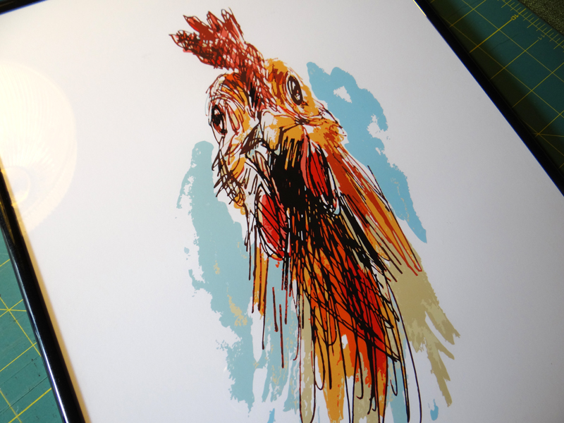 The First Chicken Portrait: Laura Lei