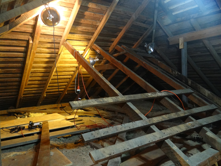 Renovating the Farmhouse: Working in the Attic
